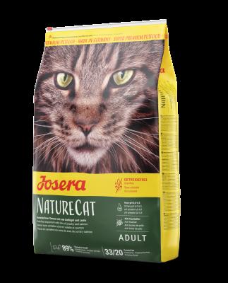 NatureCat (Adult Sensitive 33/20) беззерновой корм для кошек с чувствительным пищеварением и котят от 6 месяцев