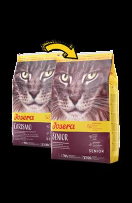 Senior сухой корм супер-премиум класса компании Josera для пожилых кошек, а также для кошек с хронической почечной недостаточностью